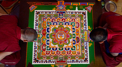 Mandala at Kagyu Samye Dzong London