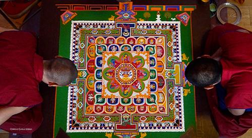 Mandala at Kagyu Samye Dzong London