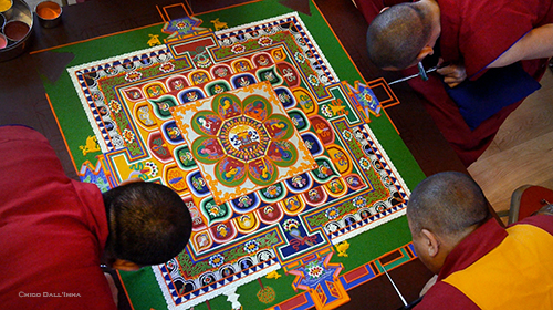 Mandala, Tashi Lhunpo Monks at Samye Dzong London